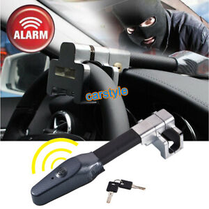 Universal Car Steering Wheel Alarm Lock Vehicle Security Key T lock Anti Theft