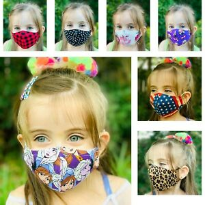 Face Mask Kids  Adult Cotton Fabric MADE IN USA Washable and Reusable Unisex $6.00