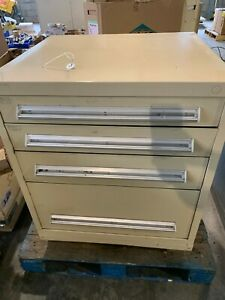 Used Stanley Vidmar Style 4 Drawer Cabinet Tool Parts Storage 36