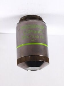 Olympus Lcplanfl 20x Ph1 Fluor Long Wd Objective W cap For Ix Bx Microscope
