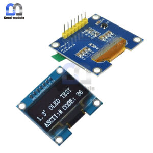 1 3 inch White Spi Serial Oled Lcd Display 128x64 Ssh1106 Module For Arduino Uno