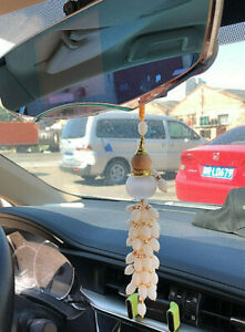 Crystal Gourd Car Rearview Mirror Pendant Lucky Safety Hanging Ornament Decor