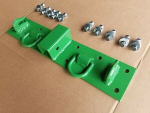 Jd John Deere Kubota Compact Tractor Bolt On Chain Hooks D Rings Receiver