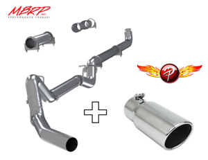 Mbrp 4 Down Pipe Back Exhaust W Tips No Muffler For 01 07 Duramax 6 6 Diesel