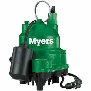 Myers Mdc33p1 1 3 Hp Cast Iron Sump Pump W Tether Float Switch