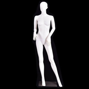 5 8 Ft Female Mannequin Manikin With Metal Stand Plastic Full Body Mannequin