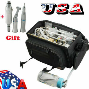 Portable Messenger Bag Dental Unit Oilless Air Compressor Suction System