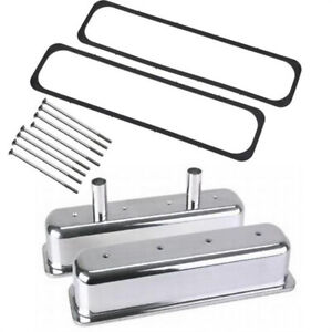 S B Chevy Tall Aluminum Centerbolt Valve Covers W Gaskets Bolts