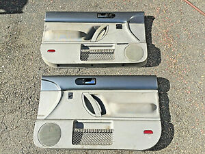 98 10 Vw Volkswagen Beetle Left Right Door Panels Set Gray Grey Metallic Gray