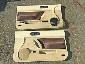 98 10 Vw Volkswagen Beetle Convertible Left Right Door Panels Set Tan Beige