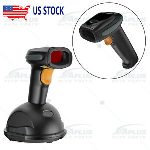 Wireless Bluetooth Barcode Scanner Handheld Usb Receiver Laser Cradle
