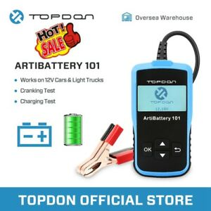 12v Automotive Car Battery Tester Topdon Artibattery101 Cranking Charging System