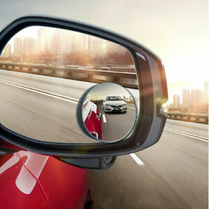 Blind Spot Mirror 2 Pcs Auto 360 Wide Angle Convex Rear Side View Car Truck Suv