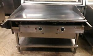 Keating 48 Miraclean Gas Grill griddle W cutting Board Holding Bracket 48 Bnfld