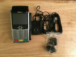 Ingenico I Wl250 Credit Card Reader Wireless Charging Cradle And Wires Used