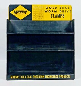 Vintage Murray Co Gold Seal Clamps Hoses Display Sign Rack Car Auto Petroliana