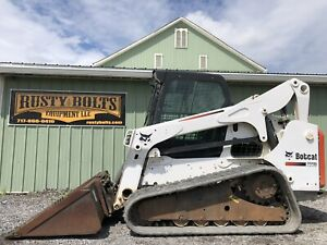 2013 Bobcat T770 Track Skid Steer Loader Enclosed Heat Ac Kubota Shipping