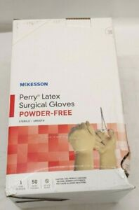 Surgical Glove Mckesson Perry 20 1070n Size 7 Sterile Powder Free Box Damage
