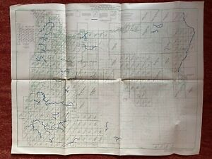 Index To Maps Of Oregonstate Map 1963 27x22 Vtg Mid Century Us Geological Steam