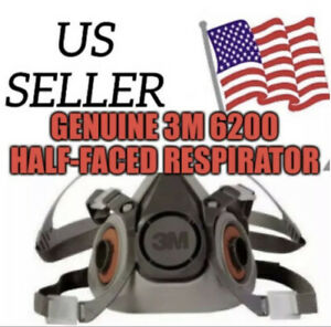 New Half Face Piece Respirator 6200 Medium With Cartridges And Filters