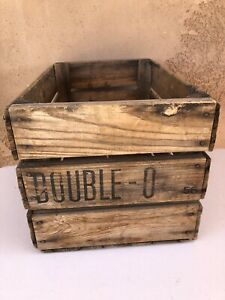 Vintage Double O Wooden Box Crate