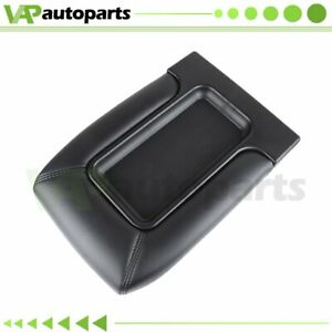 Center Console Cover Lid For 99 07 Silverado Sierra Repair Kit Armrest Black