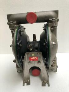 Ingersoll Rand Aro 6612b 244c Ss Stainless Steel 1 Air Double Diaphragm Pump