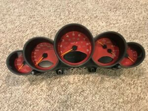 Rare Porsche 997 1 Gt3 Red Instrument Cluster Gauge Speedometer Manual