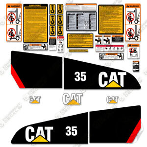 Caterpillar Gp35n Decal Kit Forklift Safety Stickers 3m Aftermarket Kit