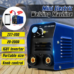 8pcs Kit 200a 220v Mini Arc Electric Welding Machine Igbt Inverter Stick Welder