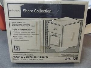 Realspace Shore Collection Rolling Pedestal File Cabinet