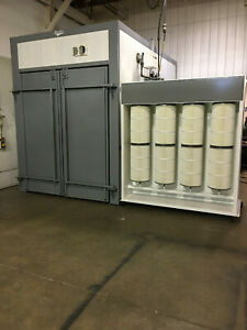 Powder Coating Package Booth Walk in Natural Gas Cure Oven Drying