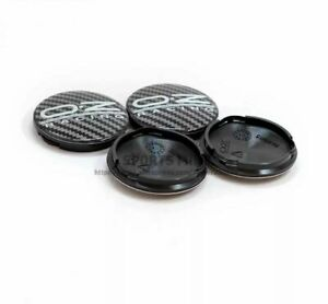 4 Pcs Oz Racing O z Carbon Fiber Style 62mm 58mm Jdm F1 Black Wheel Center Caps