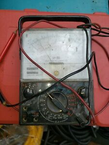 Vintage Sperry Sp 160 Vom Analog Multimeter With Leads