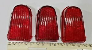 3 Vintage Original 1949 50 Chevy Chevrolet Tail Light Cover