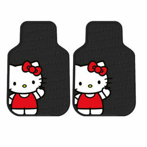 Sanrio Hello Kitty Core Car Truck 2 Front All Weather Rubber Floor Mats Set