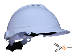 Hard Hat White Redesigned comfortable Flexible Head Suspension System