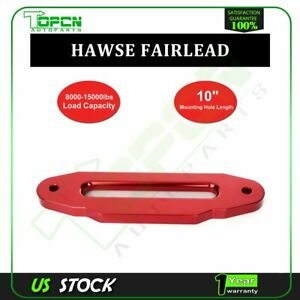Red Hawse Fairlead 8000lbs 15000lbs Synthetic Winch Rope 10 Mount Pattern
