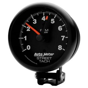 Autometer 2894 Z series Air core Pedestal Tach 8k Rpm 3 3 4 Inch