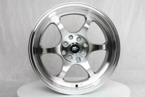 Mst Wheels Mt39 Rims 16x7 4x100 4114 3 30 Offset Stepped Lip Machined Silver