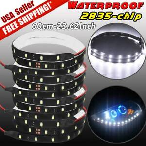 4x 60cm 2835 Smd Flexible Led Strip Light Waterproof Car Motor Signal Lamp White