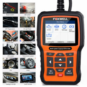 Foxwell Nt510 For Mercedes Benz Srs Code Reader Tps Immo Diagnostic Scanner