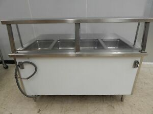 Colorpoint 4 bay Electric Steam Table With Sneezeguard Se4 cpa