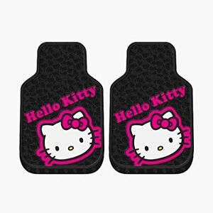 Sanrio Hello Kitty Collage Car Truck 2 Front All Weather Rubber Floor Mats Set