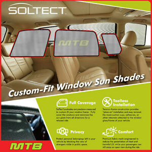Custom fit Maxpider S1mb0511 For Glk class 09 2015 Soltect Sunshade Side Windows
