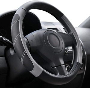 Elantrip Leather Large Steering Wheel Cover 15 1 2 To 16 Inch Universal Soft Gri