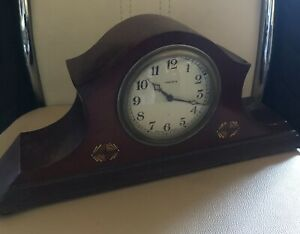 Beautiful Vintage Lincoln Wooden Hand Winding Mantel Clock