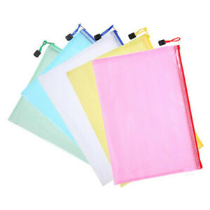 25pcs File Pockets A4 File Bags Holder Folder For Office Travel School Study