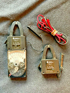 Triplett Model 310 1 With Type 10 Type 3 And 10 c Type 3 Ammeter Clamps