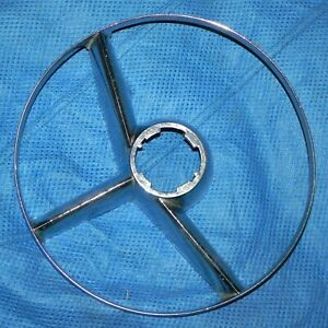 Vintage Antique 1953 1954 Mercury Accessory Steering Wheel Horn Ring Delux Trim
